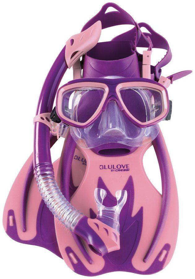 Cressi Kids' Rocks Fin, Brisa Mask, and Rio Snorkel Set 8152322