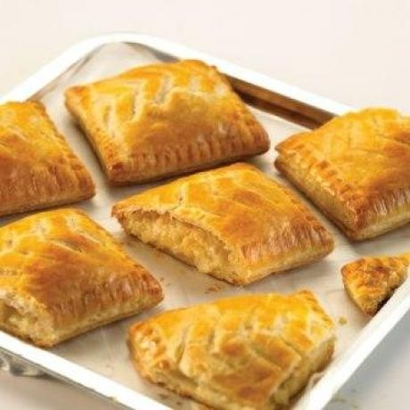 Cheese & Onion Pasties!  Puff pastry filled with English cheddar and onion....the joys of being married to a Brit!!
