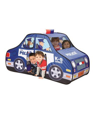 Look what I found on #zulily! Pop-Up Police Car Tent & Case #zulilyfinds