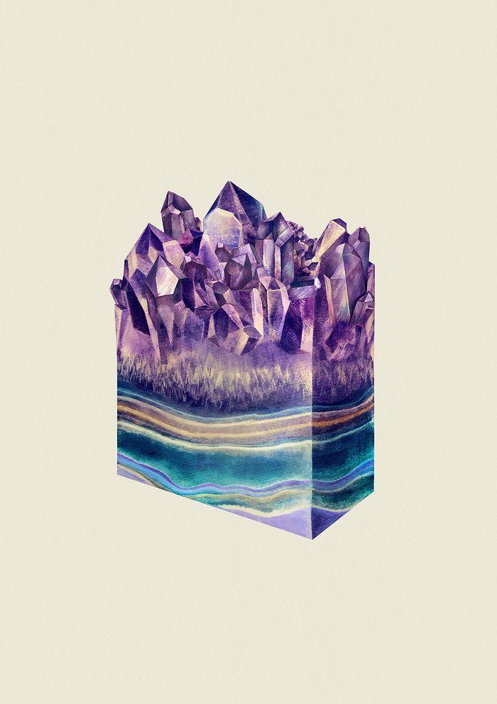 ALL THE GEMS: Gorgeous Watercolor Crystal Illustrations by Karina Eibatova