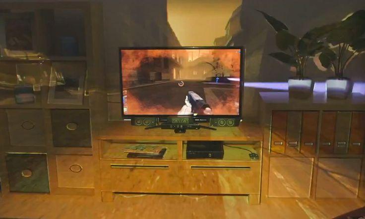 Depois de ter reinventado o conceito de controles gestuais para video games, a Microsoft surpreende novamente com sua nova tecnologia, que promete trazer a imersão completa para os jogos do futuro. O projeto IllumiRoom pretende tirar o universo do game de sua TV e expandi-lo por toda a sua sala de estar.