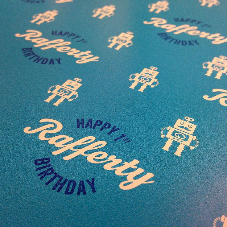 personalised birthday wrap robot by winchester & sons | notonthehighstreet.com