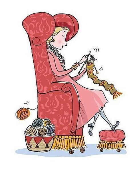 Cartoon Knitting Images : Best images about knitting illustrations drawings