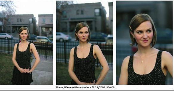 Como afecta la longitud focal una imagen.