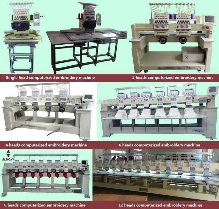 2015 Elucky multi- heads computeried 6 heads cheap embroidery machine with cheap price and high speed EG1206C