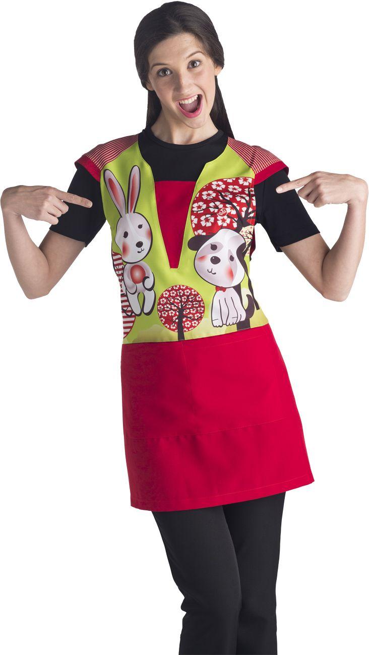 Estola Educación Infantil. Modelo conejo rojo. Referencia: ES7410.
