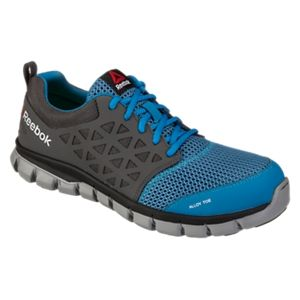 Reebok Sublite Dual Resistor Alloy Toe Athletic Oxford Work Shoes for Men - Blue/Grey - 11.5M