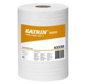Rola hartie Katrin, cond produs MET-43330, culoare alba, diametru rola 14 cm, inaltime 18cm, un strat, lungime rola 100m, 12 role pe bax. Pret 110 lei pe bax.