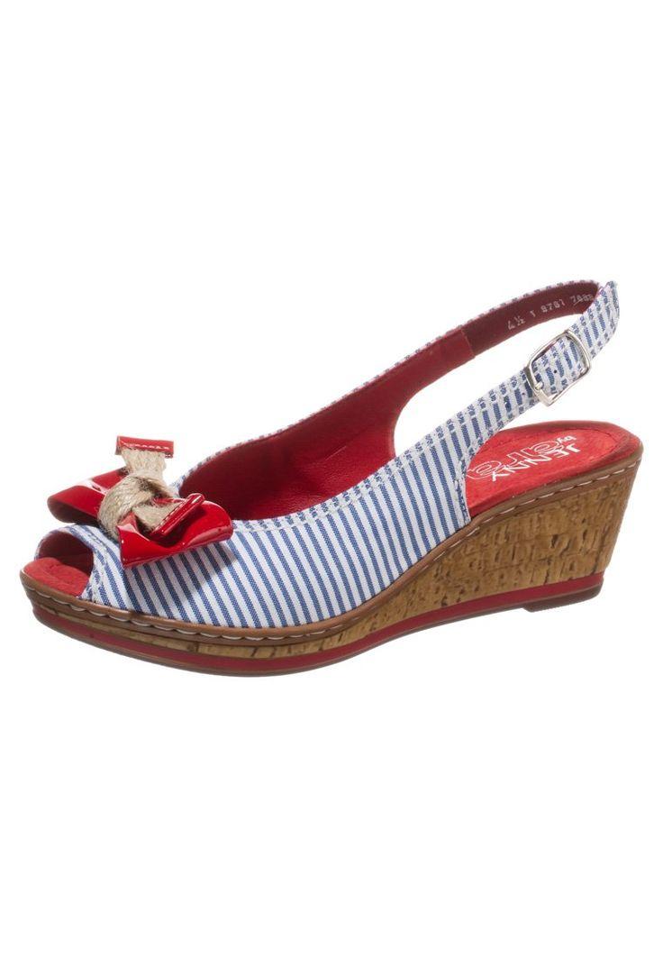 Jenny RIMINI Peep toes navy/rosso