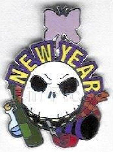 Disney Pin Nightmare Before Christmas Jack Skellington Holiday Happy New Year