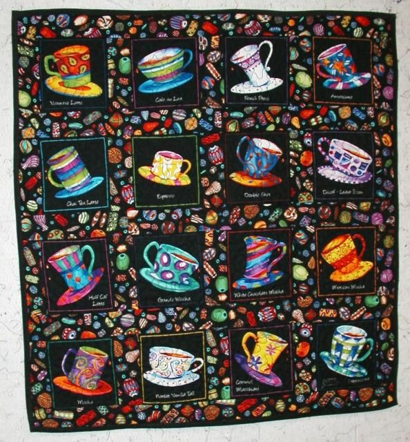 17 best images about teacup teapot quilts on pinterest for Kitchen quilting ideas