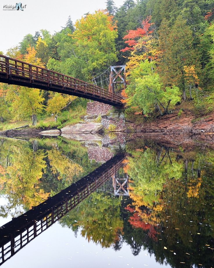 This bridge is part of the North Country Trail in Michigan's Upper Peninsula.Black River Scenic Byway.
