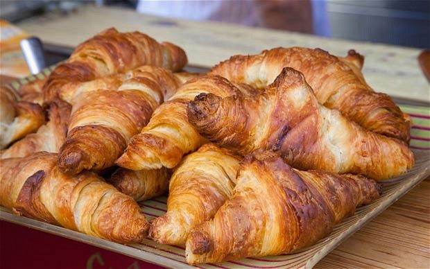 Croissant, France - Flaky pastry smothered in butter, a pile of raspberry jam smeared over the top and a soft, giving bite as you sink in your teeth; there's nothing not to love about this fatty, sweet breakfast food that must be married to a cup of strong coffee.