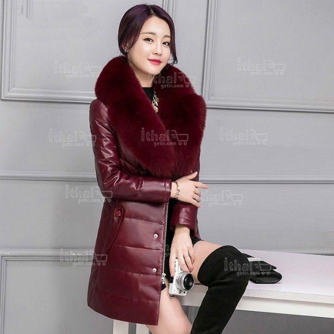 Haining Kürk Yüksek Kaliteli Malzemelerden Üretim Kadın Kürklü Mont Modelleri - 571571 - 25-1