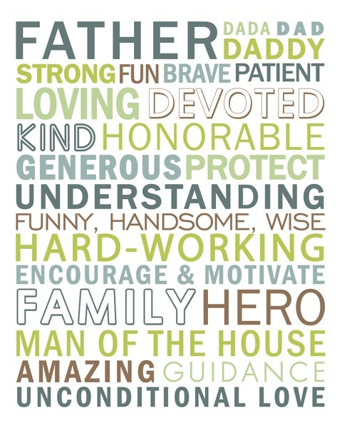 FREE Father's Day subway art printable from Simple Scrapper