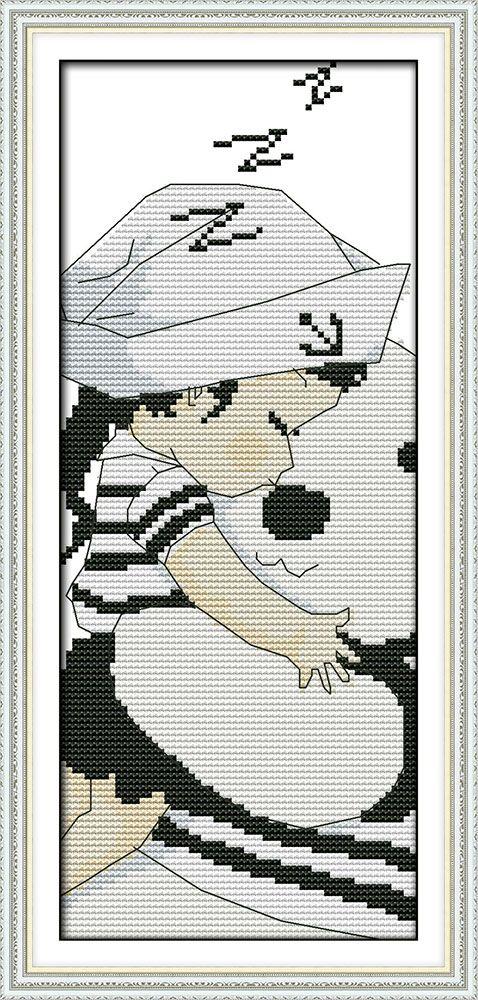 Поцелуй ребенка (5), подсчитывали напечатаны на ткани DMC 14CT 11CT Вышивка Крестом наборы, вышивка рукоделие Наборы, домашний Декор
