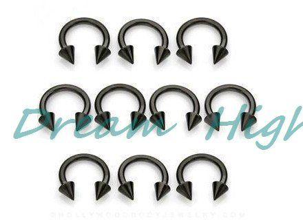 Vacuum Plating Titanium Black BCR Labret ring Nose ring 100% Guaranteed Promotional Product Earring Popular