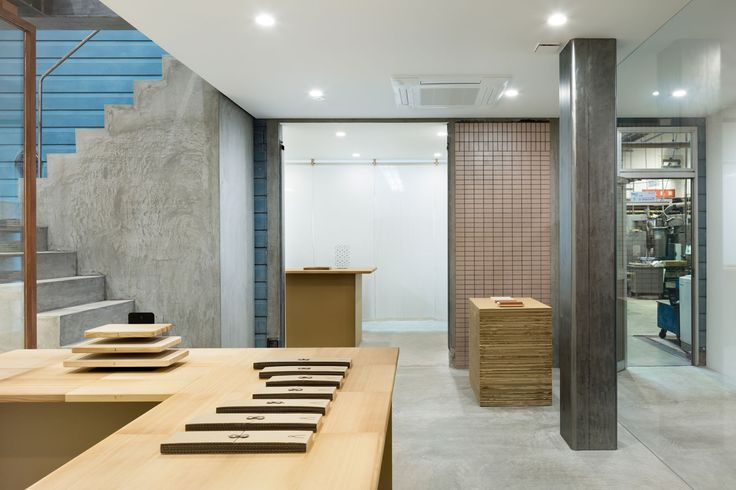 Japanese Knife Factory Showroom & Store by Yusuke Seki.