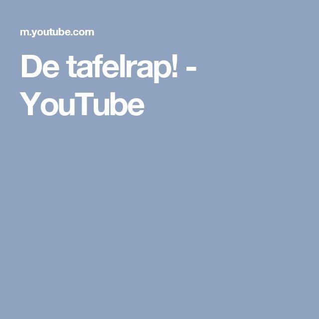De tafelrap! - YouTube