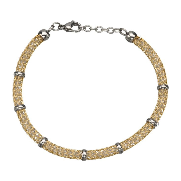 Gold IPMesh Bracelet filled with clear crystals Brand - INOX  -  http://lily316.com.au/shop/bracelets-ladies-stainless-steel/gem-filled-gold-mesh-stainless-steel-bracelet/