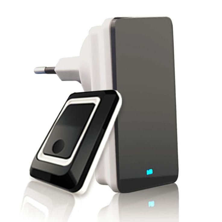 TS-K108W11 Simple Design Home Wireless Door Bell Energy Saving Adjustable Sound Volume Door Bell Black