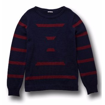 Homecore Navy Burgundy Sea Knitwear: Homecore's collections are not pinned down by trends but are created with the Parisian brands philosophy in mind, 'clothes to be comfortable to be yourself in'. This is a true french brand who's focus remains on classic yet contemporary pieces made from the best raw materials.