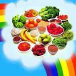 Doando Vida: Viva melhor seguindo cores do arco-íris.  Viva melhor e com mais qualidade seguindo as cores do arco-íris em sua alimentação, decore o seu prato escolhendo os vegetais e as frutas com várias cores, de preferência com base em todas as cores do arco-íris. As pessoas que consomem uma quantidade generosa de diversidades de cores nas frutas, verduras e legumes, diminuem os riscos de contraírem diversas doenças...