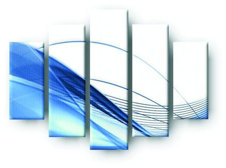DecoArt24.pl  Pięcioczęściowy obraz na płótnie zatytułowany Modern background in blue.  Autorstwa: Neliana Kostadinova /Cena 299 00 PLN ---------------- #art #artpainting #painting #abstraction #inspiration #interior #interiordesign #decoart24