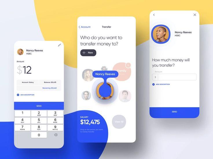 Mobile banking money transfer