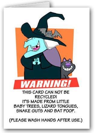 Donu0027t Recycle This Funny Halloween Card. In Fact, You May Want To