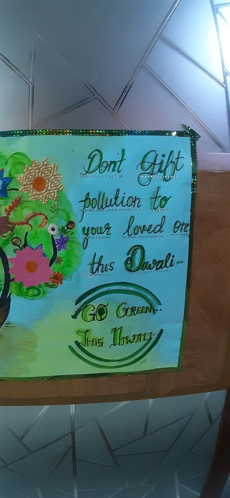 Green Diwali Slogan GreenDiwali Postermaking Diwali