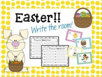 Easter Write the Room FREEBIE!