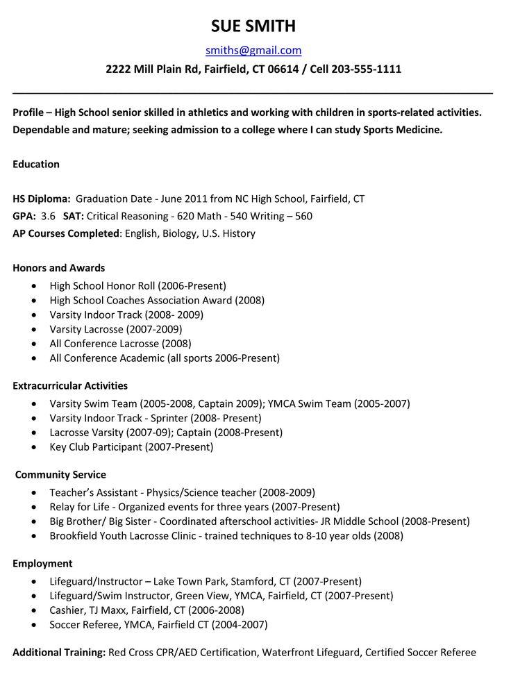 Pin by resumejob on Resume Job | Pinterest | High school resume ...