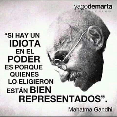Sabio Gandhi...