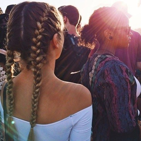 How to Chic: TWO BRAIDS INSPIRATION