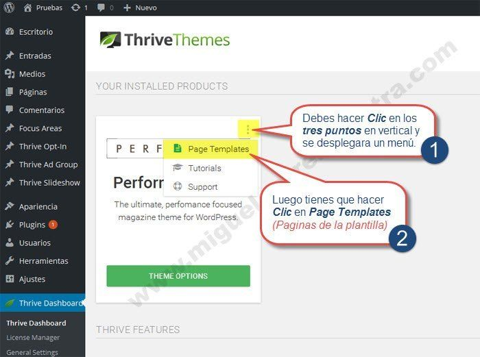 Performag Theme Premium Parte 1: Te cuento todos sus secretos paso a paso #performag #thrivethemes #thrive #wordpress #tutorial #guias #plantillas #tutoriales #premium