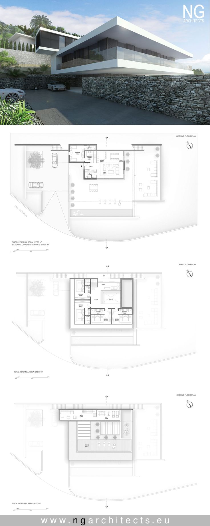 modern house plan Villa Ocean designed by NG architects www.ngarchitects.eu