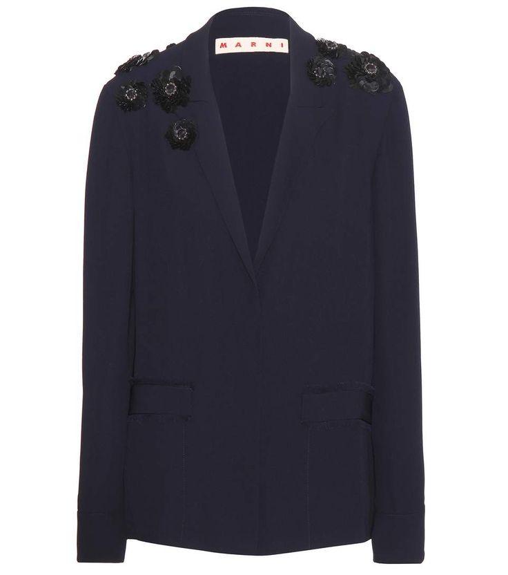 MARNI Embellished Crepe Blazer. #marni #cloth #clothing