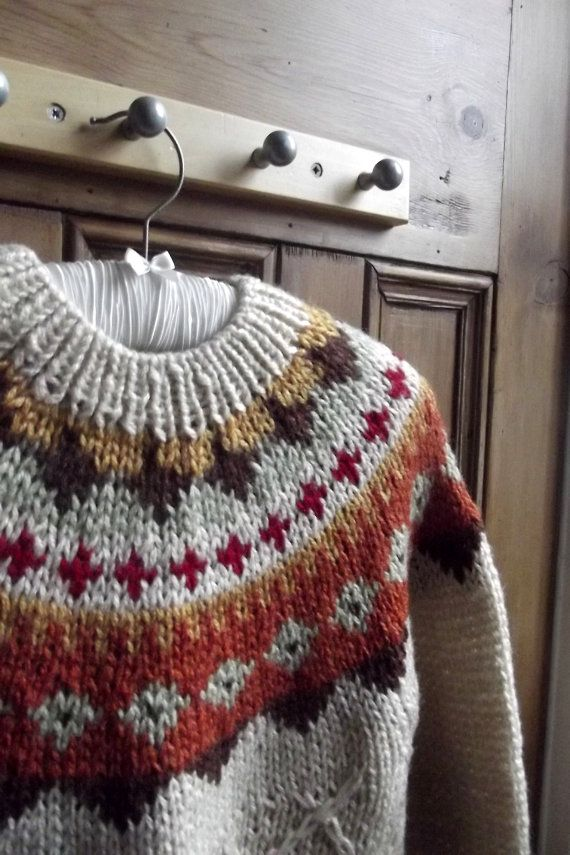 clothing jumper vintage nordic icelandic by DollyTopsyVintage