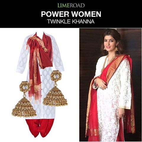 Mrs. Funnybones In-Charge, Twinkle Khanna inspires every woman to have it all! Get the look at limeroad.me/1Rrl8Xw #celebrity #style #womensday #jhumpalahiri #instastyle #instafashion #instalook #power-women #bollywood #actress