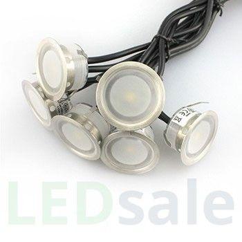 6-pack Liten LED Däcklampor