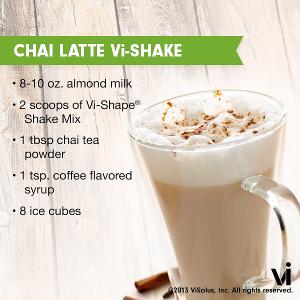 This recipe for a Chai Latte ViSalus Shake is the perfect morning pick-me-up!