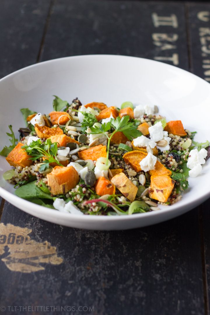 TLT - The Little Things | Sweet Potato and Quinoa Salad with Goat Cheese | http://tlt-thelittlethings.com
