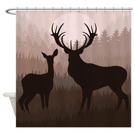 Deer Shower Curtain on CafePress.com