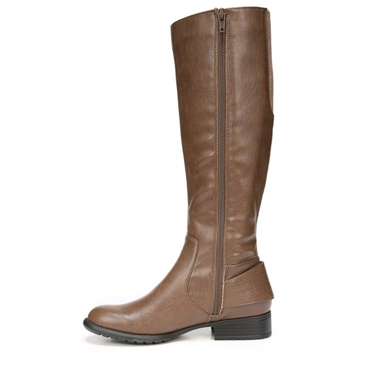 Lifestride Women's Xandy Narrow/Medium/Wide Riding Boots (Dark Tan)