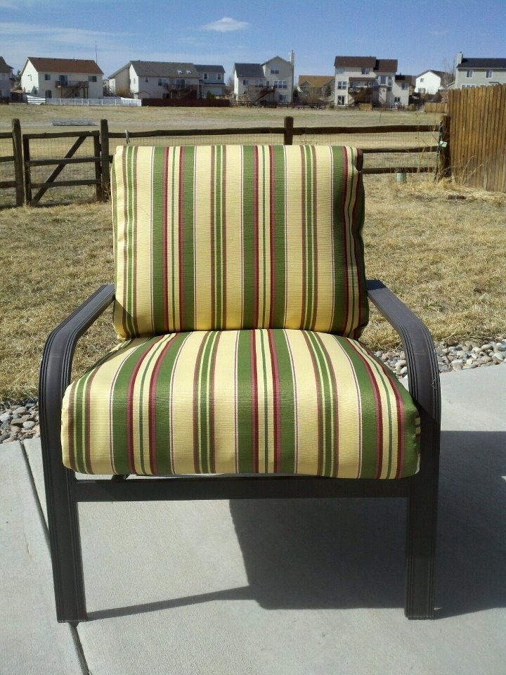 Recover Patio Furniture Using The Old Fabric As A Pattern. Tear The Cushion  Covers Apart By The Seams .
