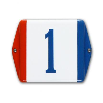 HE-59 emaille huisnummer 'Baarle Nassau'. Mooie rood wit blauw driekleur!