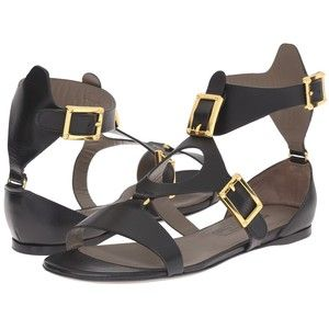 Versace Collection Oro Bizantino Sandal (Nero) Women's Sandals