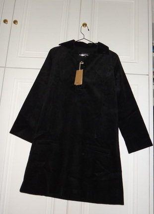 À vendre sur #vintedfrance ! http://www.vinted.fr/mode-femmes/robes-casual/25792236-robe-noire-en-velours-cotele-apc-xs