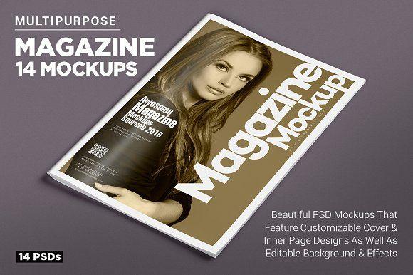 14 Magazine Mockups Vol. 7 by ZippyPixels on @creativemarket